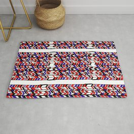 Blue and red Rug