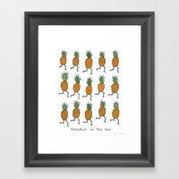 pineapples on the run Framed Art Print