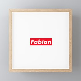 Fabian Framed Mini Art Print