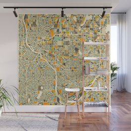 Twin Cities MAP Wall Mural