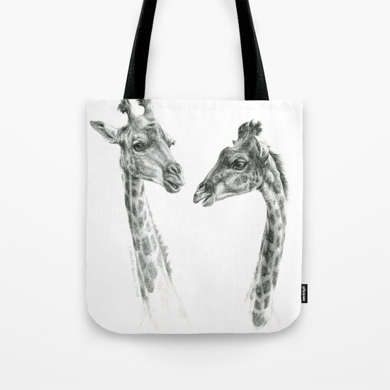 Giraffes love G055bis Tote Bag