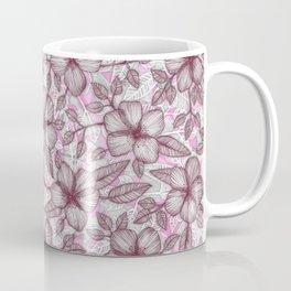 Spring Blossom in Marsala, Pink & Plum Coffee Mug