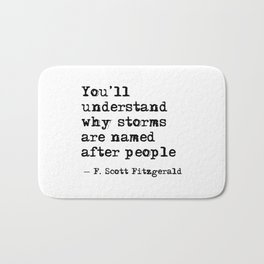 You'll understand why storms are named after people Bath Mat