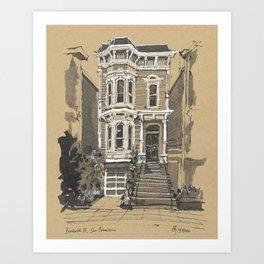 Victorian House San Francisco Art Print