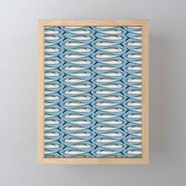 Mackerel Fish Pattern Framed Mini Art Print
