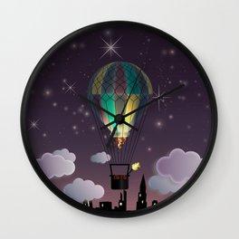 Balloon Aeronautics Night Wall Clock