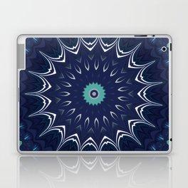 Navy Blue Teal Mandala Design Laptop & iPad Skin