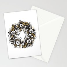 Golden Wreath Stationery Cards