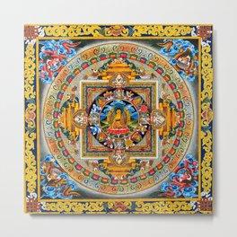 Buddhist Mandala Gold Tangka Wisdom Metal Print