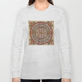 Manuṣyaloka, Map of the World of Man, according to Jain cosomological traditions (circa 1890) Long Sleeve T-shirt