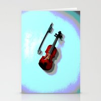 violin Stationery Cards featuring Violin by Vitta