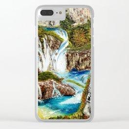 Calm Cascades Clear iPhone Case