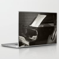 music notes Laptop & iPad Skins featuring Grand Piano and Music Notes by cinema4design