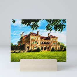 The Breakers Mansion Watercolor - Newport Mansion Series - Jéanpaul Ferro Mini Art Print
