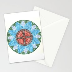 stained flower Stationery Cards