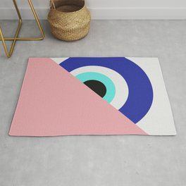 Devil eye pink hide Rug