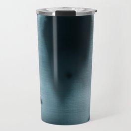 Figure behind a curtain Travel Mug