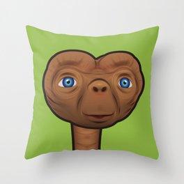 Optimistic ET Throw Pillow