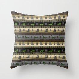 Loch Ness Fair Isle Throw Pillow