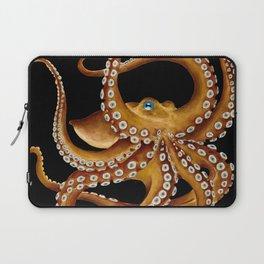 Brown Octopus Blue Eye Black Watercolor Laptop Sleeve