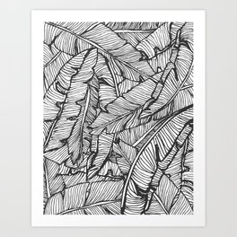 Black & White Jungle #society6 #decor #buyart Art Print