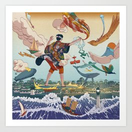Ukiyo-e tale: The legend Art Print