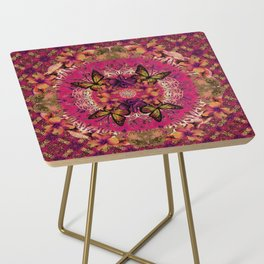 Victoria Mandala Collage Side Table