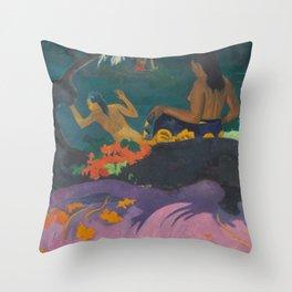 Paul Gauguin - Fatata te Miti (By the Sea) Throw Pillow