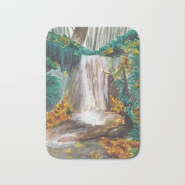 Waterfall, Autumn colors, Seattle Bath Mat