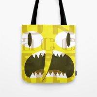 lemongrab Tote Bags featuring Lemongrab Typography by Aaron Bowersock