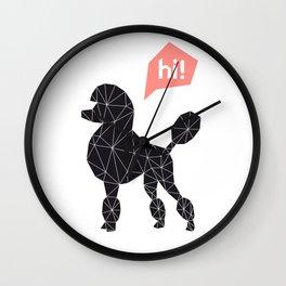 Hi! poodle Wall Clock