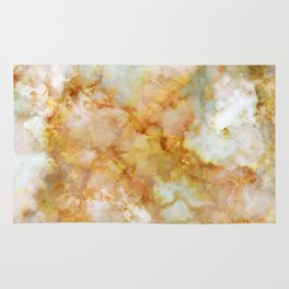 Gold Rippled Marble Rug