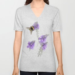Watercolor Bumble Bee Unisex V-Neck