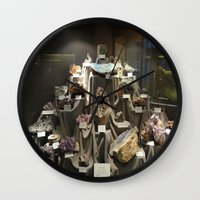 minerals Wall Clocks featuring Don't Touch the Minerals by kindercore