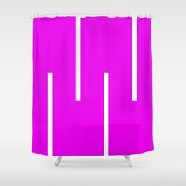 Abstract Retro Stripes Pinky Shower Curtain
