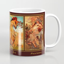 Art Nouveau Mucha Four Seasons Coffee Mug