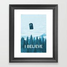 I Believe - Blue Framed Art Print