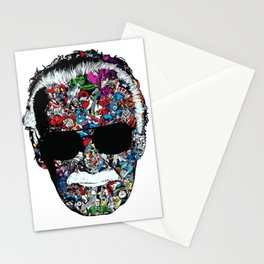 stanlee face Stationery Cards