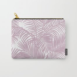 Modern tropical lavender palm tree floral Carry-All Pouch
