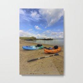 Lets Kayak Metal Print