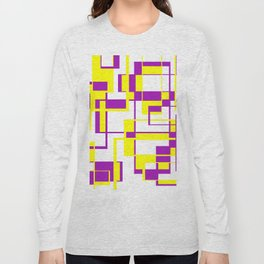 Purple and Yellow Bricks Long Sleeve T-shirt