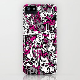 Ghost Doodles iPhone Case