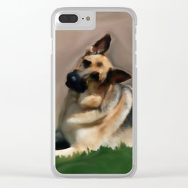 Curious Shepherd Clear iPhone Case