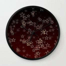 Holiday Stars Wall Clock