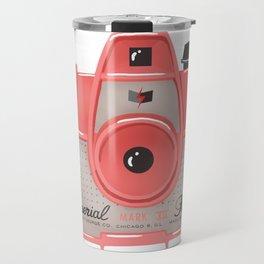 Vintage Camera - Red Travel Mug