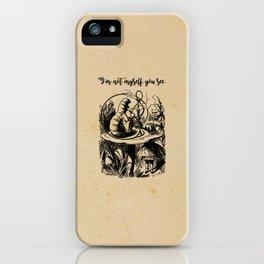 Not Myself - Lewis Carroll - Alice in Wonderland iPhone Case
