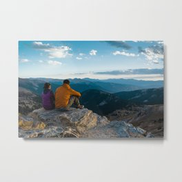 A Day In The Mountains Metal Print