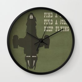 Find a Crew, Find a Job, Keep Flying Wall Clock