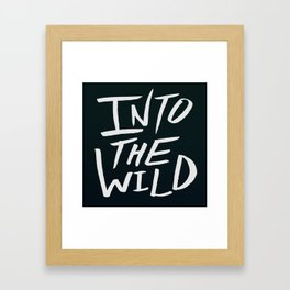 Into the Wild x BW Framed Art Print