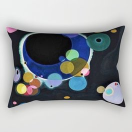 Planets & Moons (Several Circles) by Wassily Kandinsky Rectangular Pillow